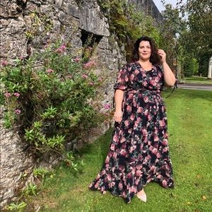 Gal meets glam floral maxi dress